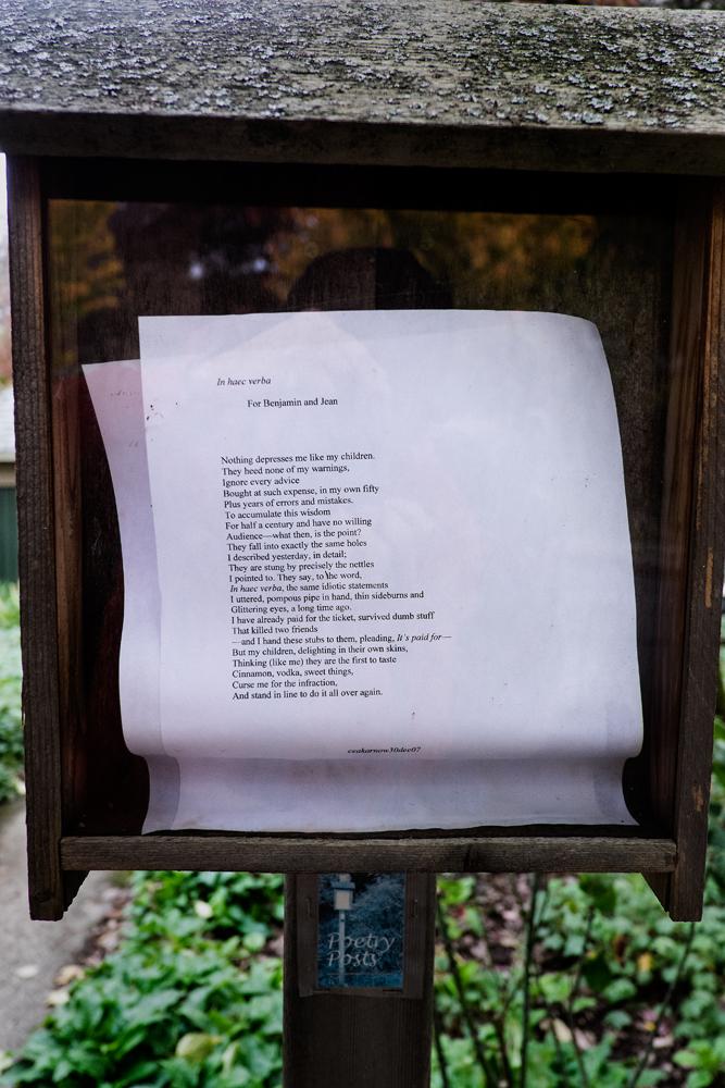 Poetry Post in Benny's neighborhood, NE Portland, Oregon