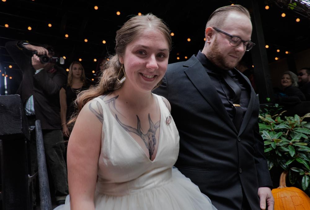 Junior Ryan and Caitlin Geimer, the newlyweds