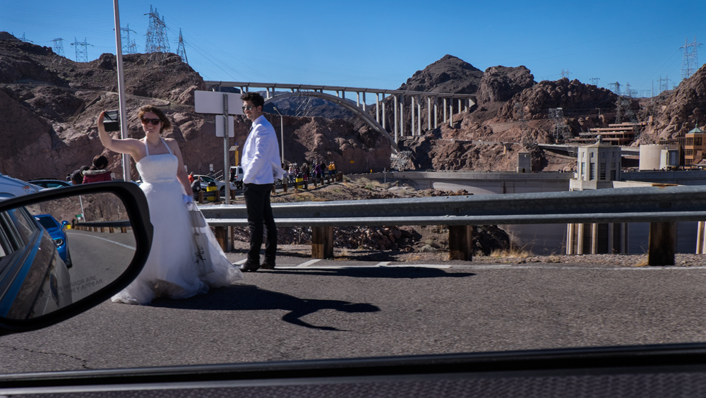 Drive-by Wedding Shoot at Hoover Dam