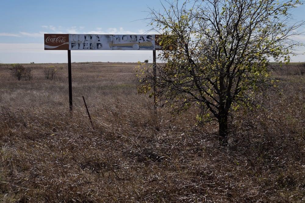 Lily Thomas Field, near Geronimo, Oklahoma
