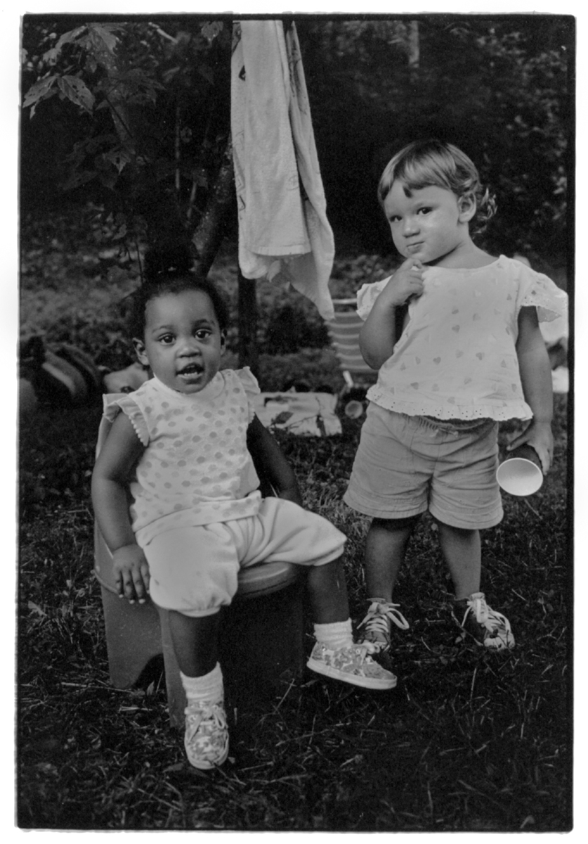 Kate and friend at the 4th of July Party, Anderson Branch, Madison County, NC 1993