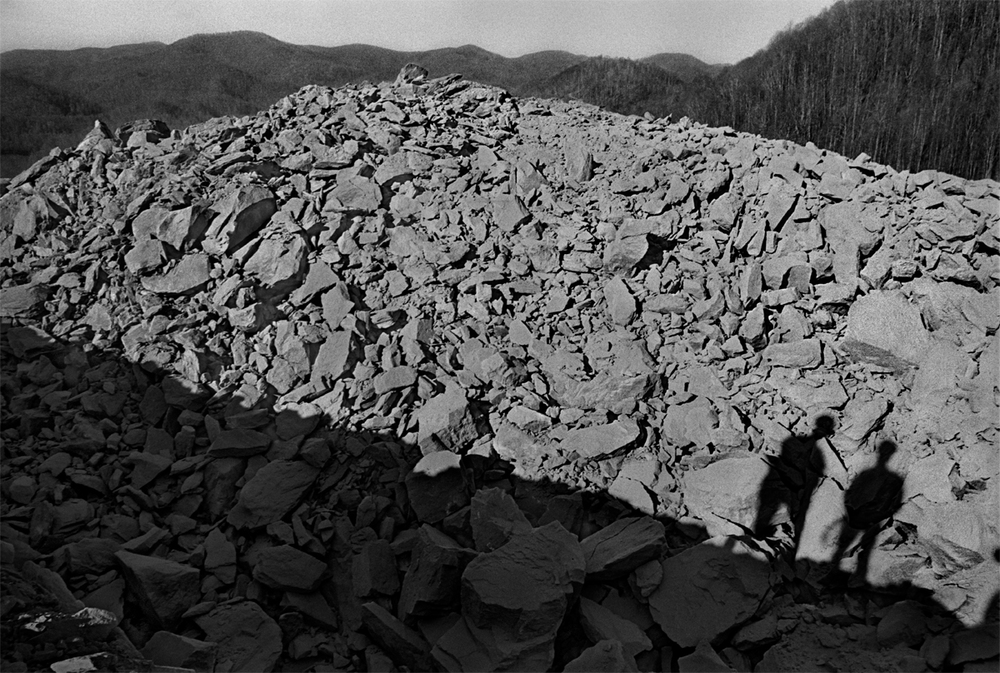 Supervisors Inspecting site of a recent blast, Buckner Gap, Madison County, NC 1997 - from The New Road: I-26 and the Footprints of Progress in Appalachia