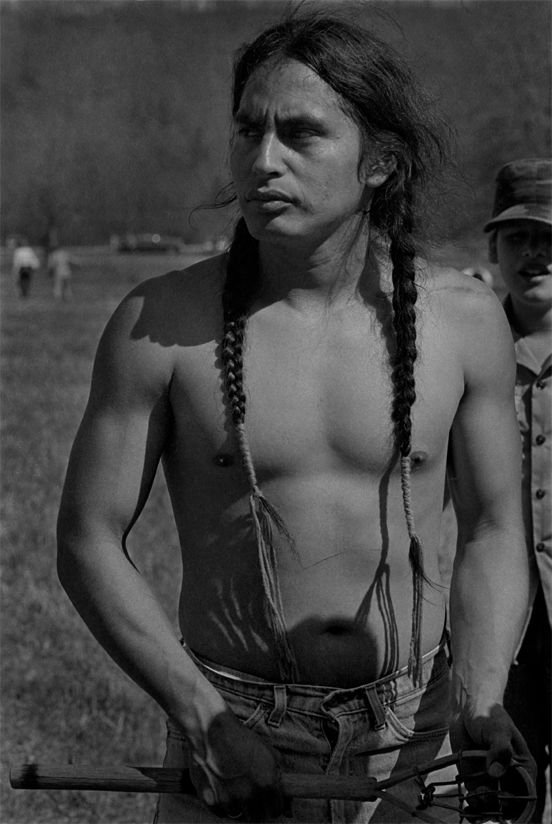 Cherokee Stickball Player, at the First Cherokee Reunion, Red Clay, Tennessee, 1984