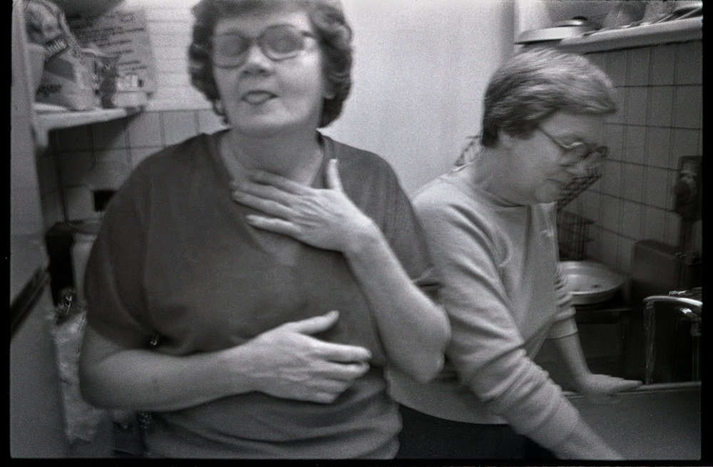Daisy Worley Black (left) and Ruby Roberts at Roberts Pharmacy, Marshall, Madison County, NC 1983 - Thank you Cynthia Niles