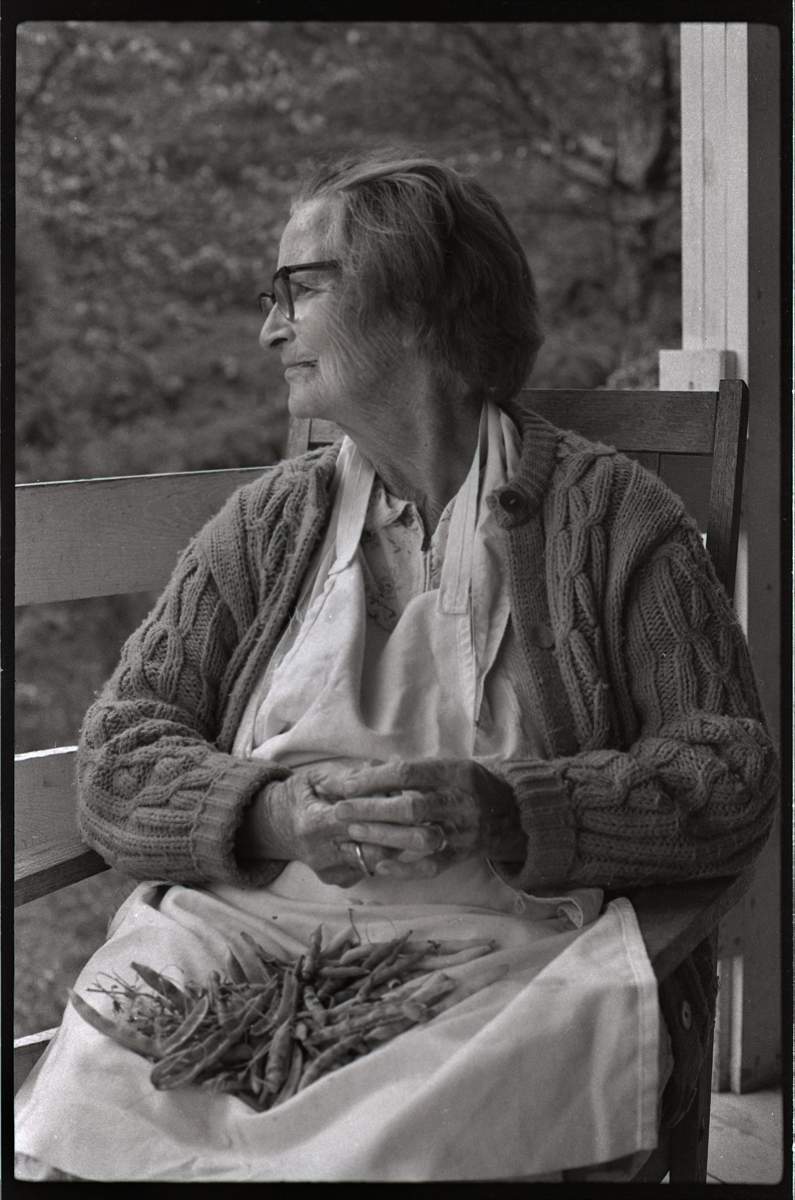 Dellie Norton, On Her Porch, Burton Cove, Sodom, Madison County, NC 1975
