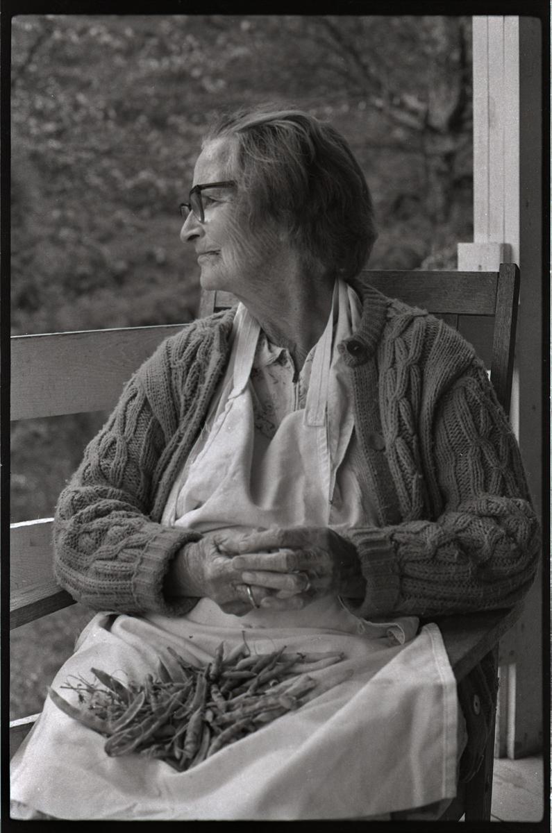Dellie Norton, On Her Porch, Burton Cove, Sodom, Madison County, NC 1975