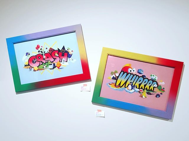 """My piece(s) for Super Mario kART a tribute art show to the best racing game ever that hung at @thewarrennashville this weekend! 12x18"""" prints inspired by MK64's expression sprites and items/obstacles that trigger them. Painted frames. Big congrats to @samsmyth for curating such an amazing show!!!"""