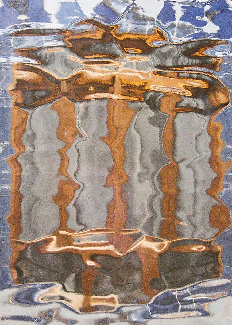 Vista a través del cristal en el ascensor de Casa Batlló