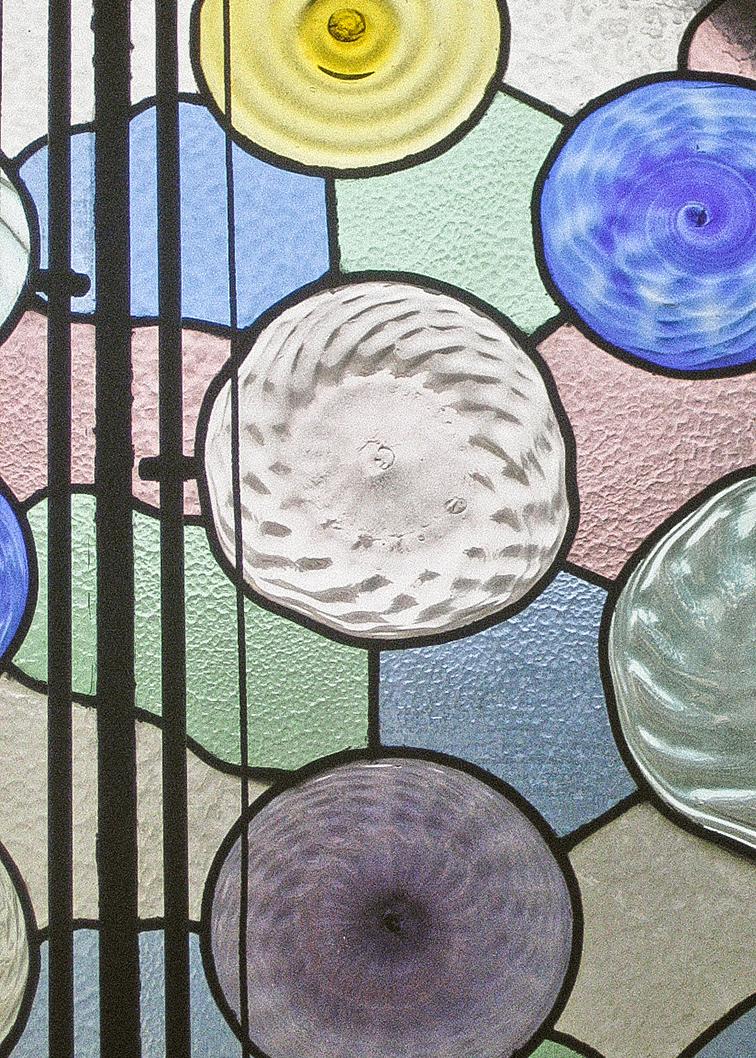 Vitral en una ventana de Casa Batlló