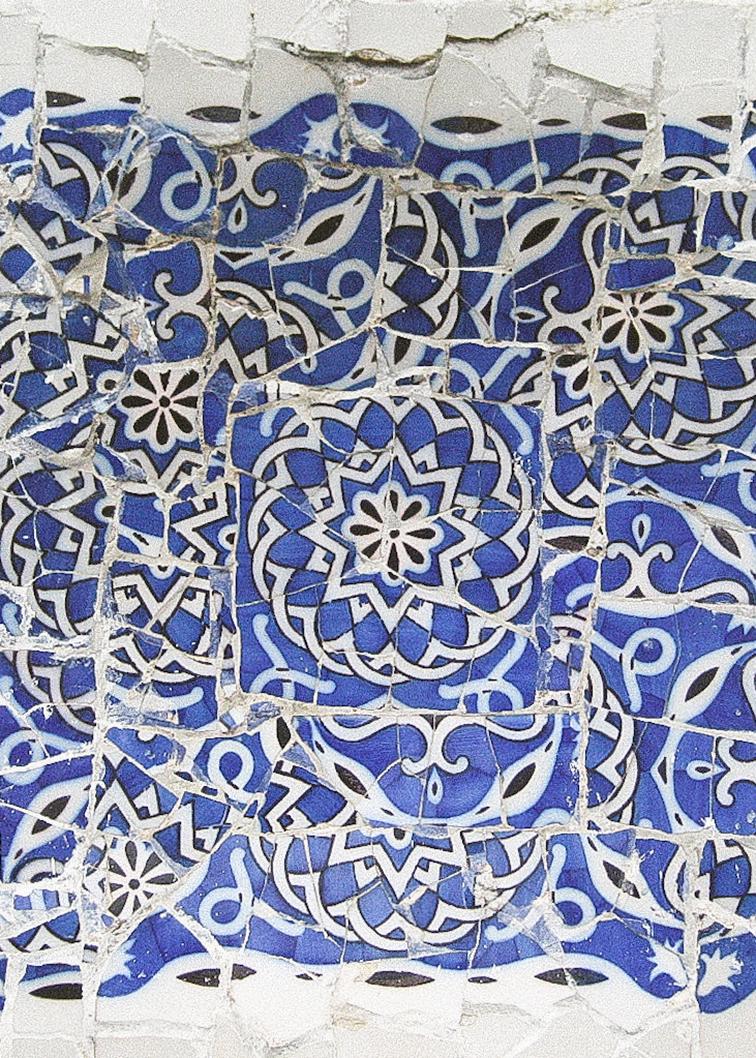 Mozaico en pared exterior dePark Güell