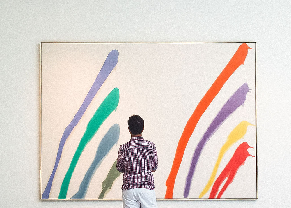 Art by  Morris Louis