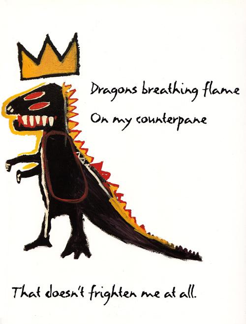 Palabras por Maya Angelou, Ilustración por Jean-Michel Basquiat.