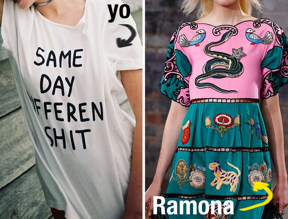 Ramona viste de  Gucci
