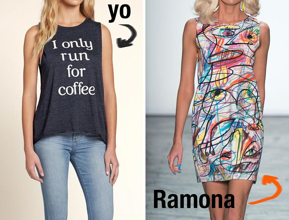 Ramona viste de  Jeremy Scott