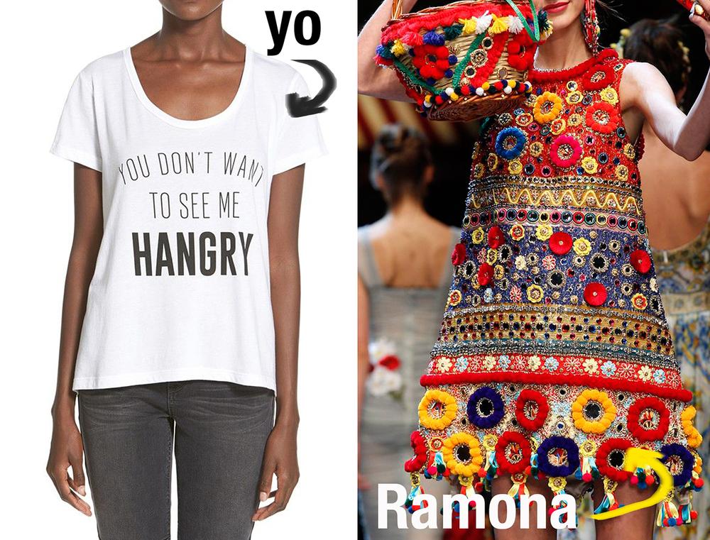 Ramona viste de  Dolce Gabanna