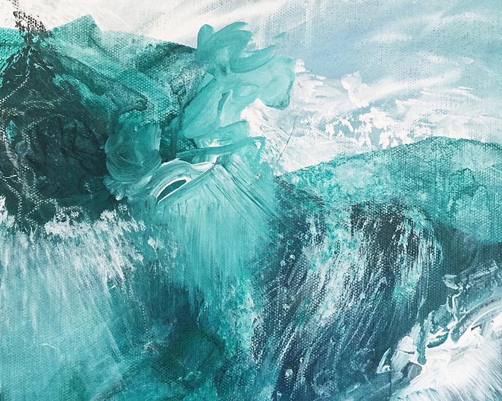 """""""Saliendo de el Mar"""" Detail"""