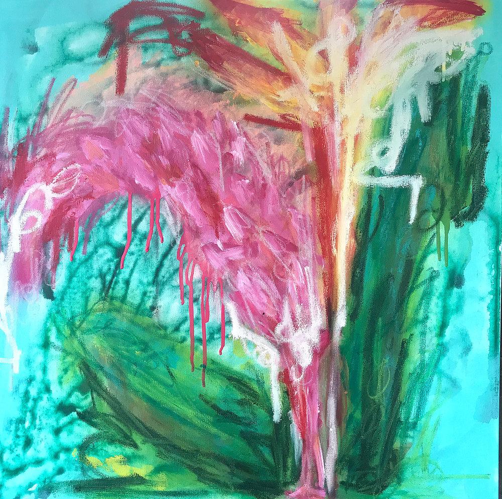 24x24 - Tropical 1 - Mix Media on Canvas