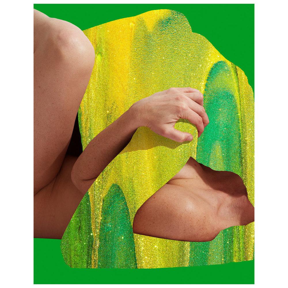 "Figures, Glitter, Green  2017 14"" x 11"" Archival Inkjet Print"