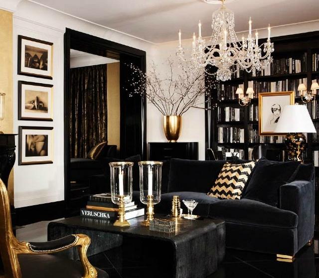 Ralph Lauren in the Living Room...always chic.