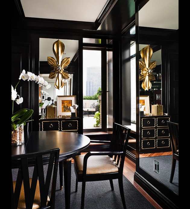 Black walls in the Dining Room? Absolutely.
