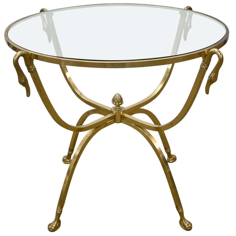 Brass table in the style of Maison Jansen.