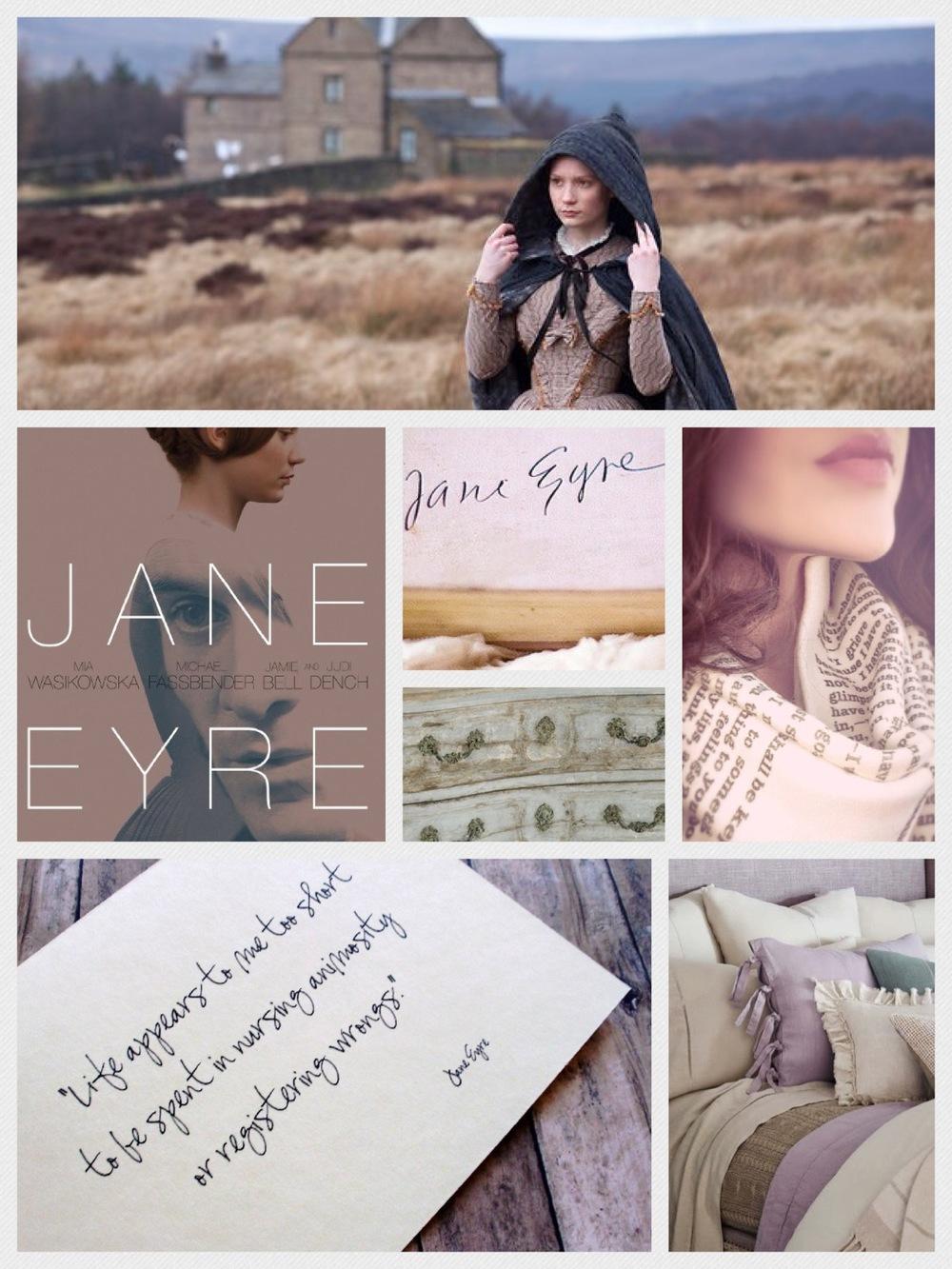 Jane Eyre (2011), Mia Wasikowska; Scarf: (Jane Eyre excerpt) Etsy; Bedding: Ralph Lauren