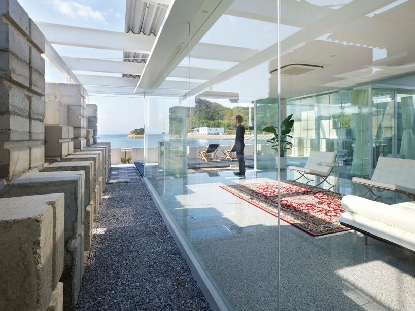 Glass House for Diver, Etajima-Hiroshima, Japan.