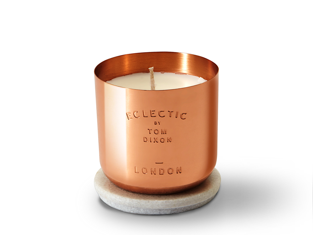 Copper candle by Tom Dixon.