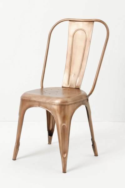 Copper chair: Anthropolgie.