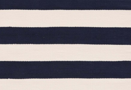 """Catamaran Stripe"" in Navy by Dash & Albert"