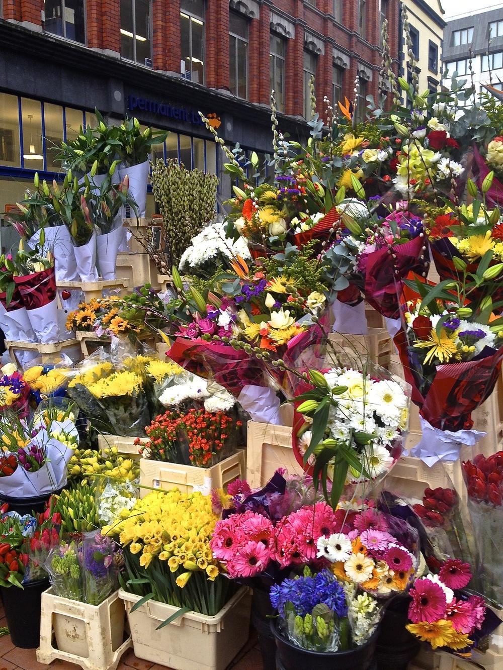 Flower Market, Dublin, Ireland  Photography by Judy Uelk