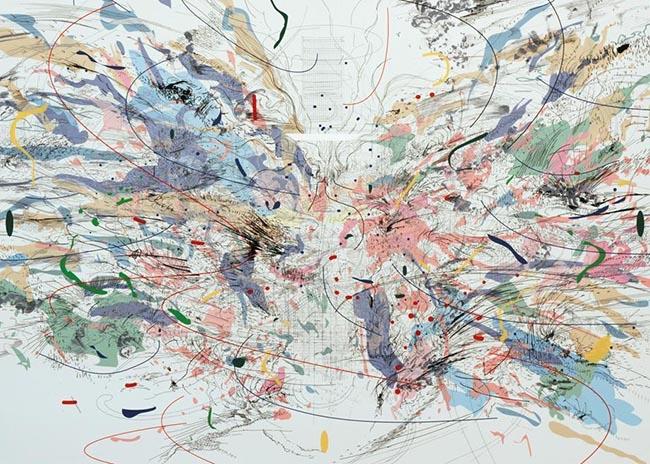 "IMAGE SOURCE: The Walker Art Museum Via: Design Sponge  Julie Mehretu ""Entropia"" Print"