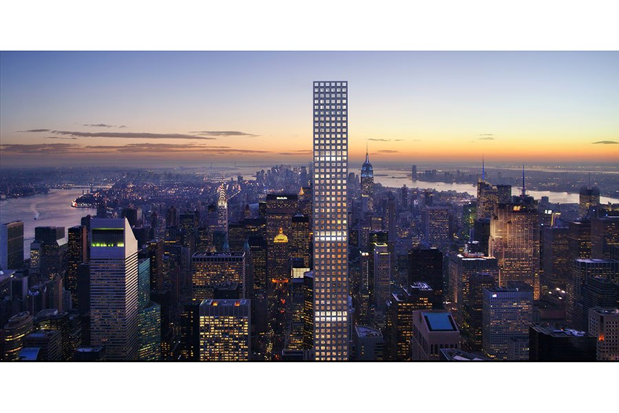 PHOTO: COURTESY OF RAFAEL VIÑOLY ARCHITECTS   VIA: ARCHITECTURAL DIGEST Luxury apartment building in Manhattan