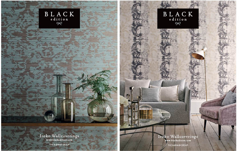 "IMAGE SOURCE: Romo Fabrics Black Edition  ""Iroko Wallcoverings"""