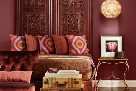 IMAGE SOURCE: CoCo Milanos     Gorgeous room dressed in Marsala