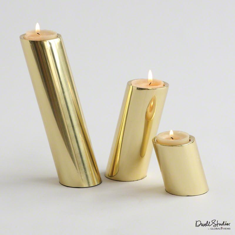 Slanted Gold Candlesticks