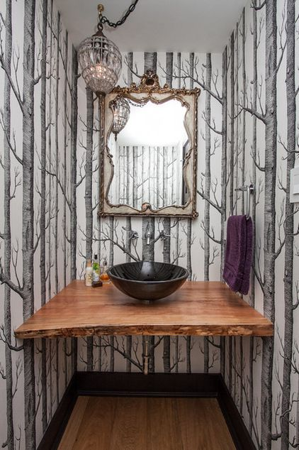 """IMAGE SOURCE: Farrow Arcaro Design """"Woods"""" wallpaper by Cole & Son"""