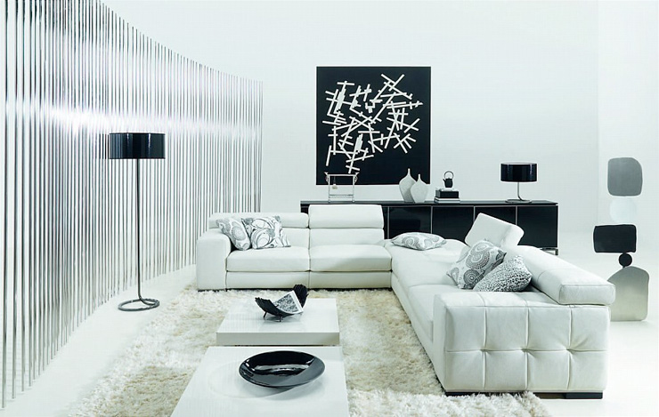 Image: Nimvo  Black and white is definitely a striking combination. This amazing space has just the right amount of each hue to make it visually stunning.