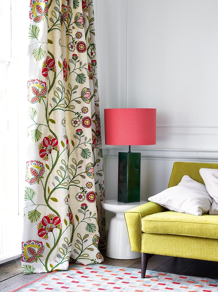 """""""Carimbo"""" in red and green by Jane Churchill for Cowtan & Tout"""
