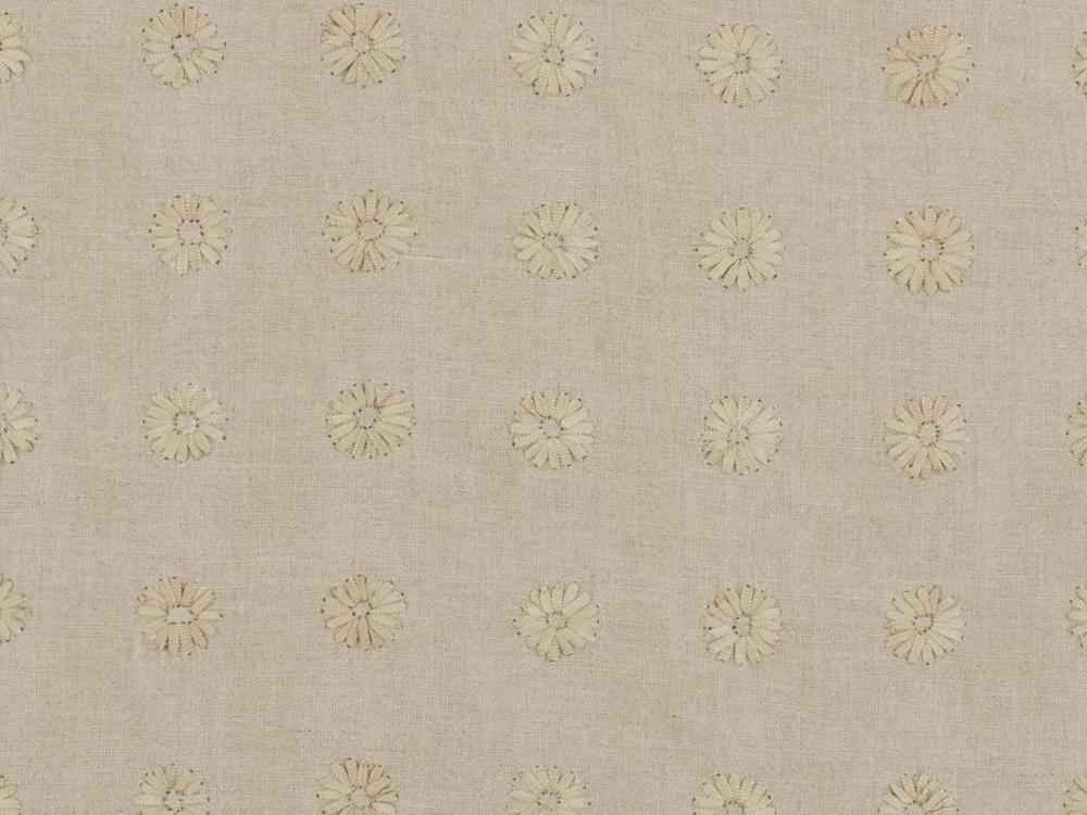 """""""Daisy Daisy"""" in beige linen by Kravet"""