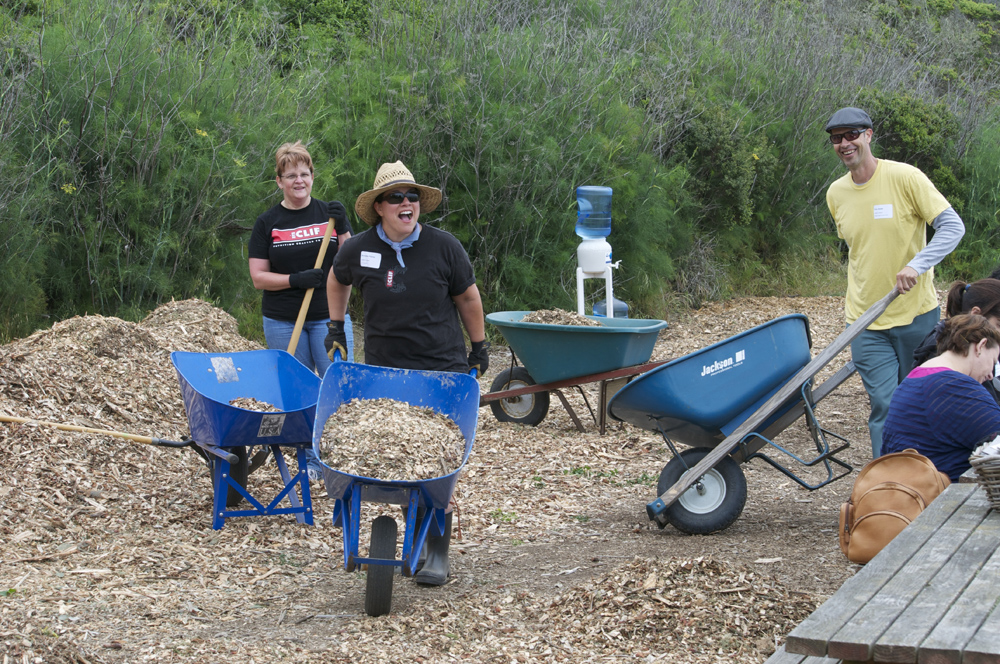 Clif Bar Volunteer Day At Slide Ranch - mulching(1000px).jpg