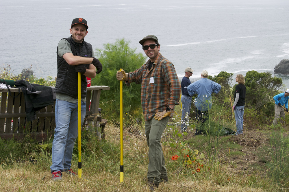 Clif Bar Volunteer Day At Slide Ranch - two guys and rakes(1000px).jpg