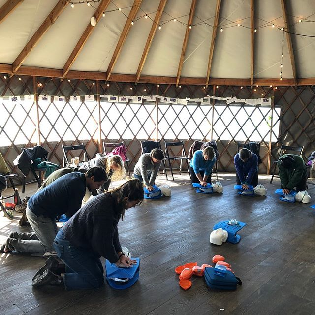 Slide Ranch staff are first aid and cpr certified. Such essential skills! We encourage everyone to get trained and be prepared to help in an emergency. Thanks to Daniel from ReadySF for a great training. #readysf