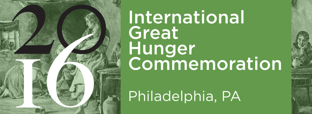 """Thursday, October 6th - Sunday, October 9th, 2016   Philadelphia is hosting Ireland's 9th Annual International Great Hunger Commemoration.Join Heather Humphreys, TD, Minister for Arts, Heritage and the Gaeltacht, Barbara Jones, Consul General of Ireland, Hon. Mike Stack, Lt. Governor of Pennsylvania, James F. Kenney, Mayor, City of Philadelphia and the Irish Community of the Delaware Valley for this 4-Day event that brings together some of the world's leading authorities on the Irish Starvation, including Christine Kinealy,founding director of Ireland's Great Hunger Institute at Quinnipiac University.  Events include:  • The showing of a documentary at the Ritz Theatre followed by a reception and Q & A with the author and director  • A candlelight march to the Irish Memorial followed by a blessing of the Memorial  • A courtroom experience putting """"Hunger on Trial""""  • A service project to feed the area's hungry by the Hibernian Hunger Project  • A Philly Style Irish """"Hoolie""""  • A Gala on Saturday evening at the center city Doubletree Hotel by Hilton and so much more   For tickets, more information or sponsorship opportunities, please visit the website at http://greathungerevent.org/ or contact:Kathy McGee Burns: 215.572.1306 mcgeeburns@aol.com,Bob Gessler: 215.426.8050 irishmemorial2016@gmail.com"""