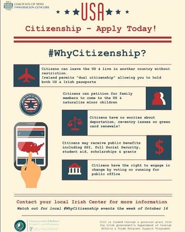 Thinking of becoming a US citizen? Here are some of the benefits . We have availability in our free  legal clinic on Monday June 4th to help you. Call now on 610-789-6355 to book your appointment.