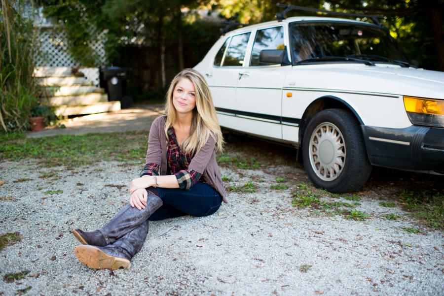 Portrait, Car, Suburban, Neighborhood, Lauren W Photography, Louisville, Kentucky, Natural Light, Outdoor, Lifestyle