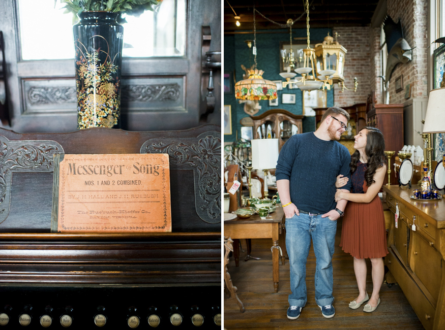 Antique Store Engagement