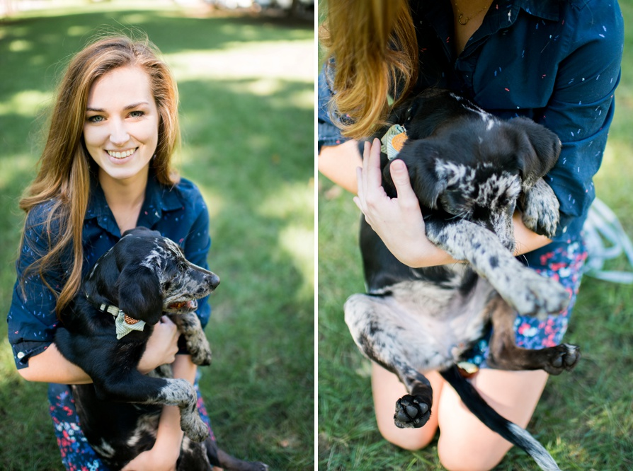 Engagement session with dog, dog engagement session, st. james court, louisville, kentucky, morgan jenny, cameron tillet