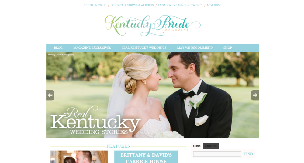 Kentucky Bride Magazine | Lauren W Photography