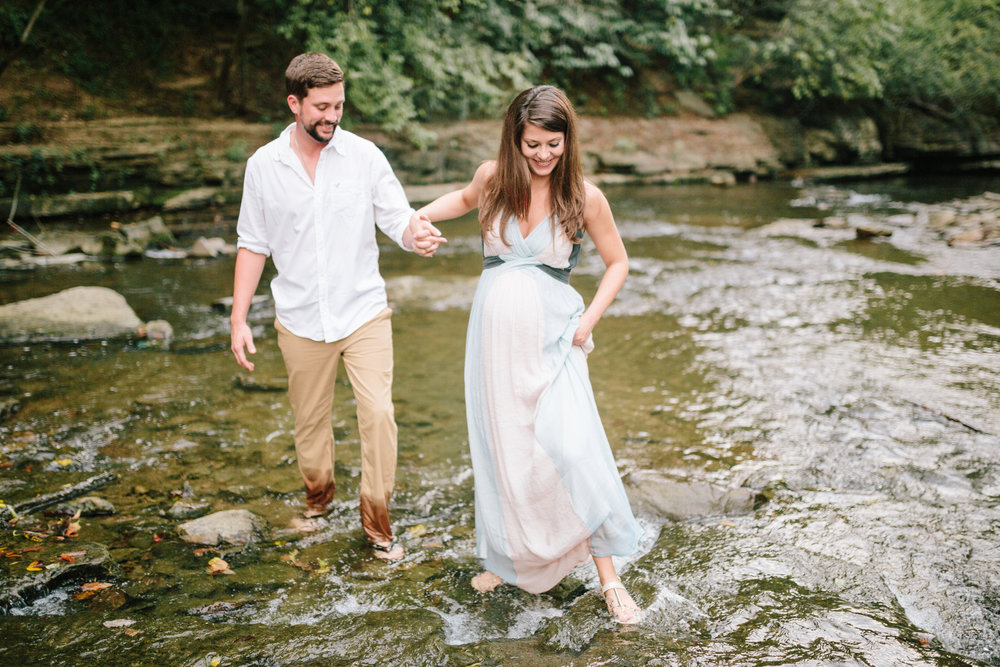 Creek Maternity Session Lauren W Photography